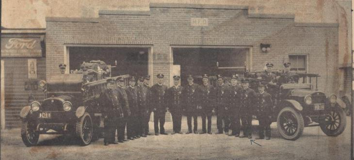 Ferry st fire station  c 1926 comp