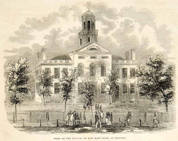 State House 1852 engraving